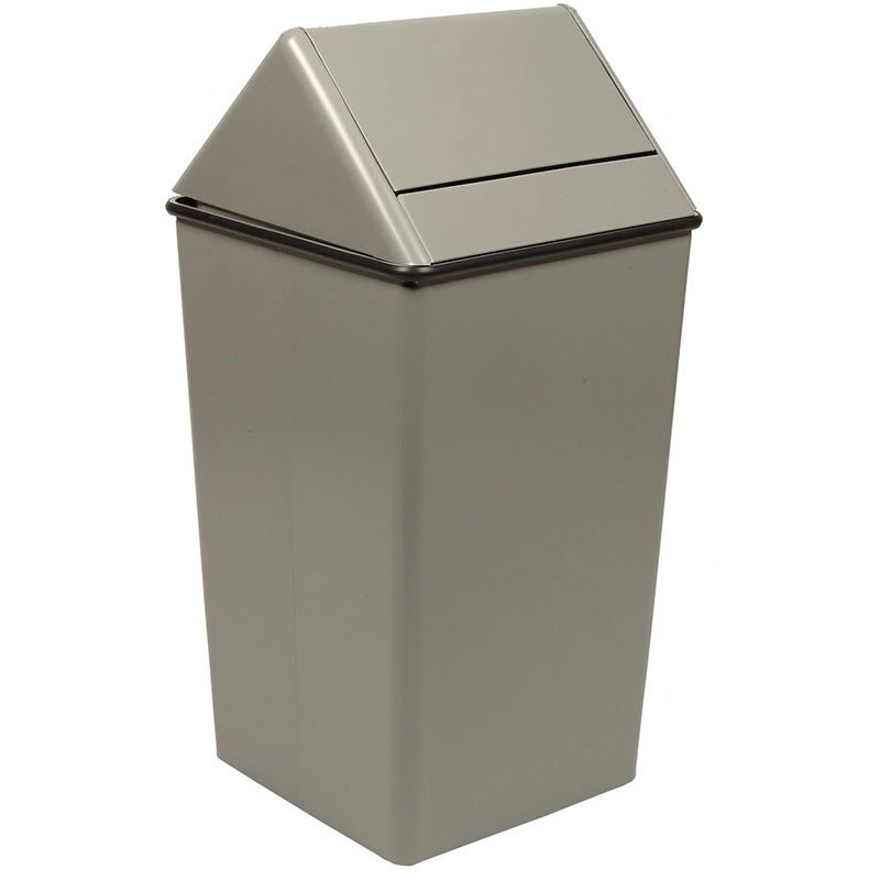 Witt 1311HTSL 13-gal Indoor Decorative Trash Can - Metal, Slate