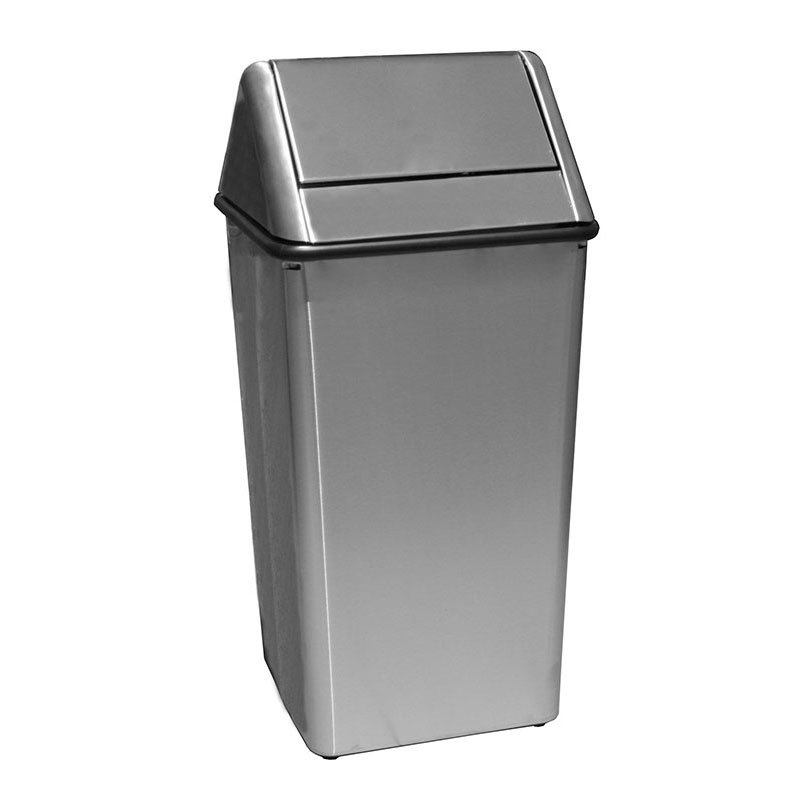 Witt 1311HTSS 13 gal Indoor Decorative Trash Can  Metal Stainless Steel