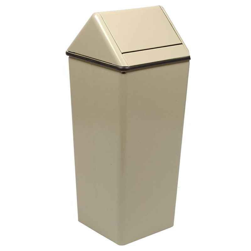 Witt 1511HTAL 36-gal Indoor Decorative Trash Can - Metal, Almond