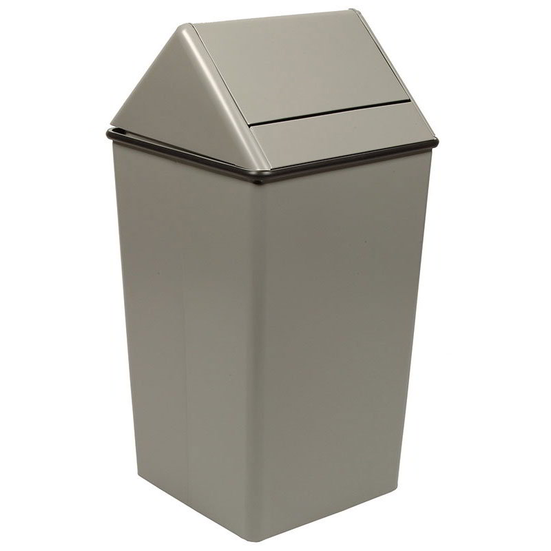 Witt 1511HTSL 36 gal Indoor Decorative Trash Can Metal Slate