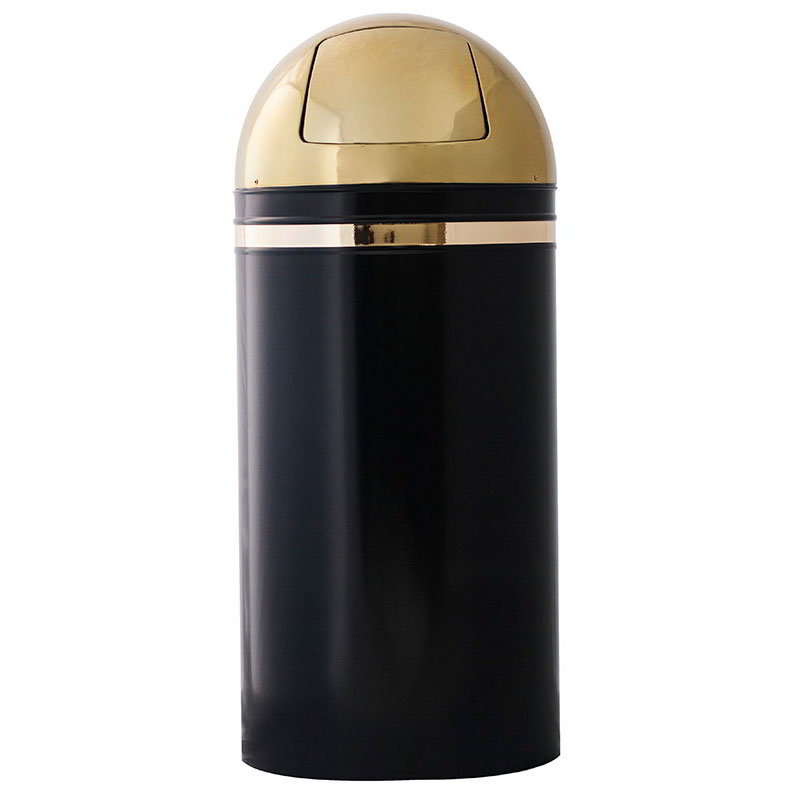 Witt 15DT-11 15-gal Indoor Decorative Trash Can - Metal, Black