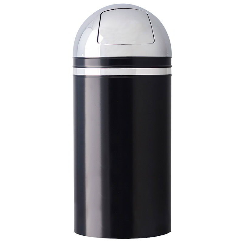 Witt 15DT-22 15-gal Indoor Decorative Trash Can - Metal, Black