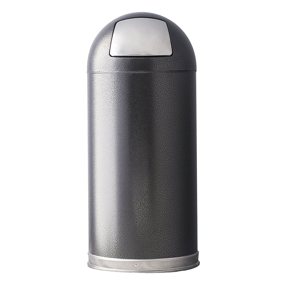 Witt 15DTSVN 15-gal Indoor Decorative Trash Can - Metal, Silver