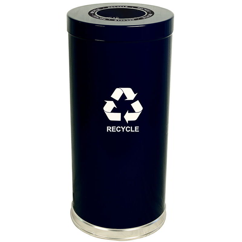 Witt 15RTBK-1H 24-gal Multiple Materials Recycle Bin - Indoor, Decorative