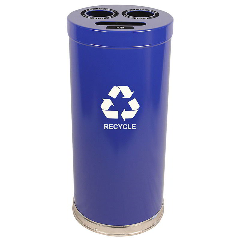 Witt 15RTBL 24-gal Multiple Materials Recycle Bin - Indoor, Multiple Sections, Decorative