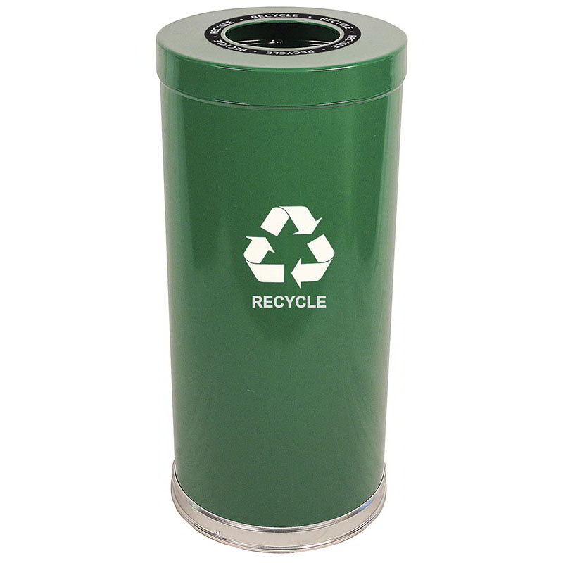 Witt 15RTGN-1H 24-gal Multiple Materials Recycle Bin - Indoor, Decorative