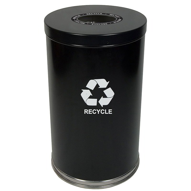 Witt 18RTBK-1H 35-gal Multiple Materials Recycle Bin - Indoor, Decorative