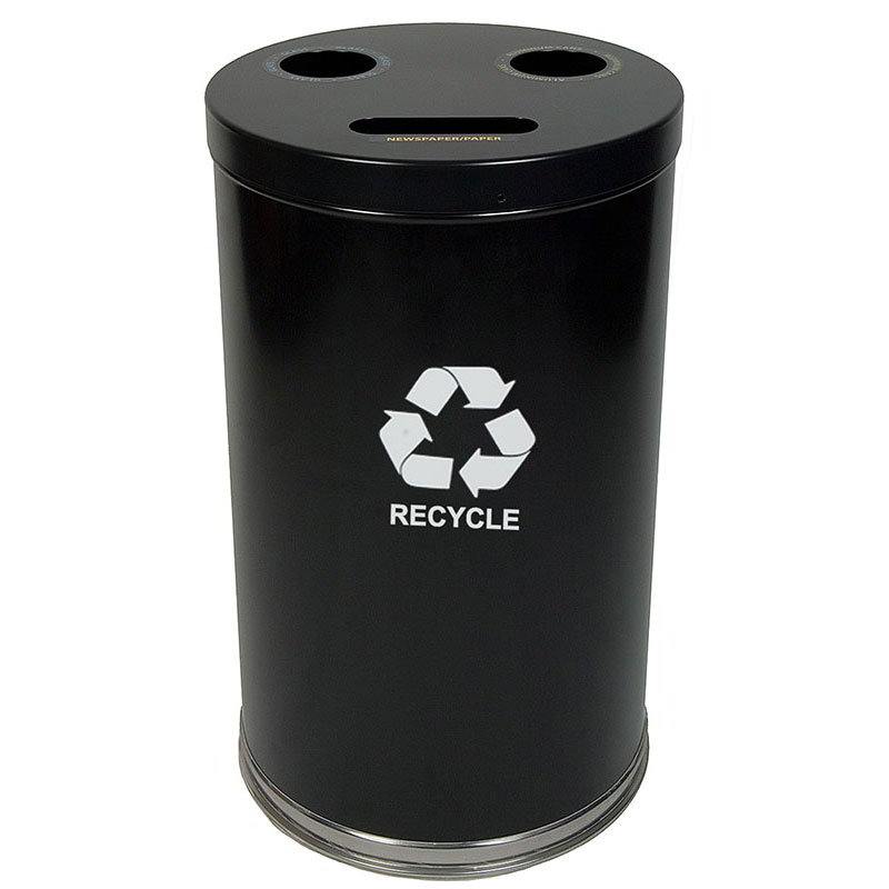 Witt 18RTBK 33-gal Multiple Materials Recycle Bin - Indoor, Multiple Sections, Decorative