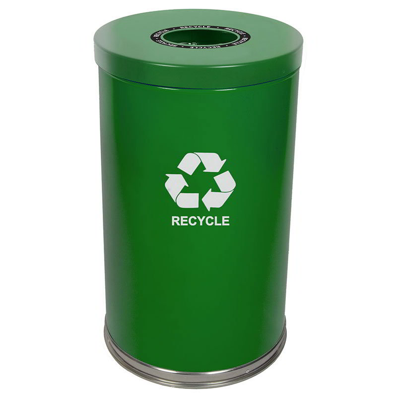 Witt 18RTGN-1H 35-gal Multiple Materials Recycle Bin - Indoor, Decorative