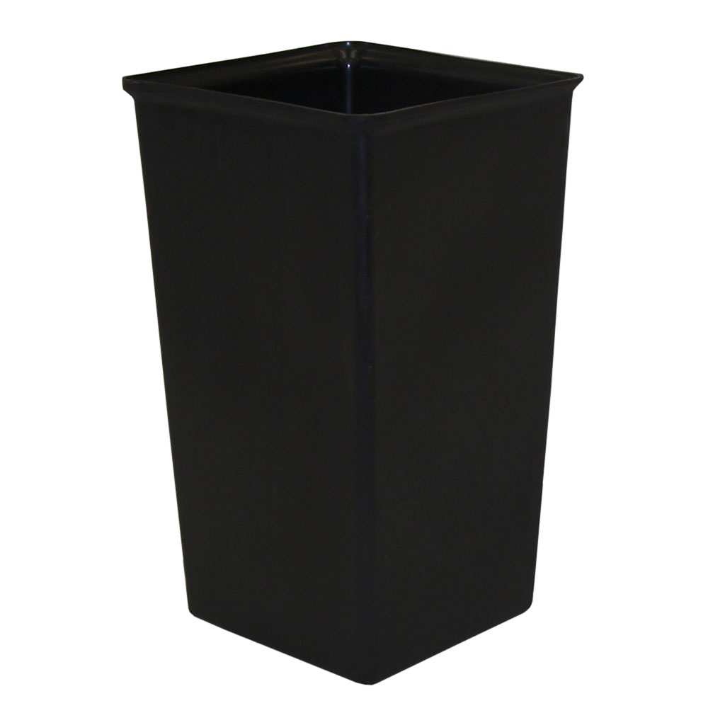 Witt 21R 21-gal Square Rigid Trash Can Liner, Plastic - Black