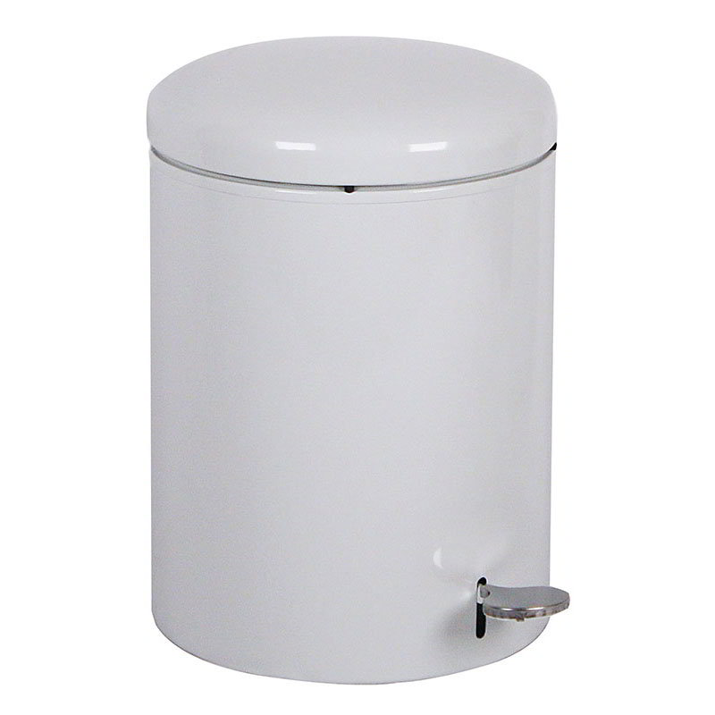 Witt 2240WH 4-Gallon Indoor Step On Trash Can w/ Galvanized Liner, White