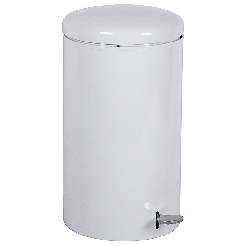 Witt 2270WH 7-Gallon Indoor Step On Trash Can w/ Galvanized Liner, White