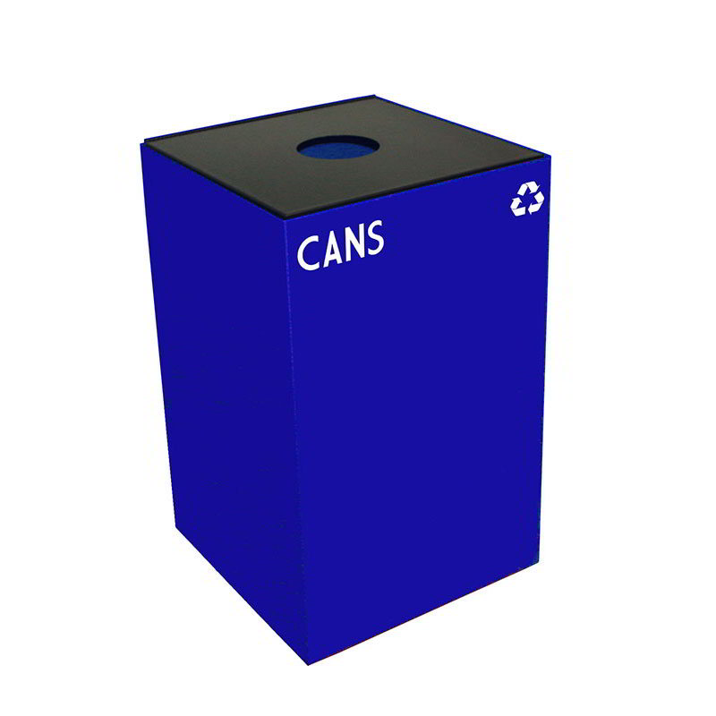Witt 24GC01-BL 24-gal Cans Recycle Bin - Indoor, Fire Res...