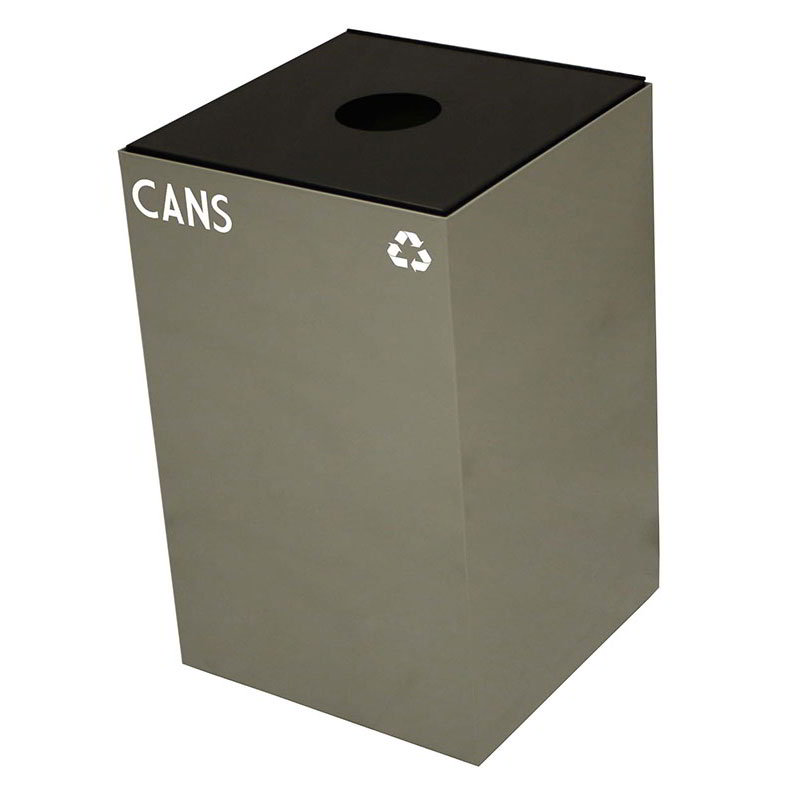 Witt 24GC01-SL 24-gal Cans Recycle Bin - Indoor, Fire Resistant