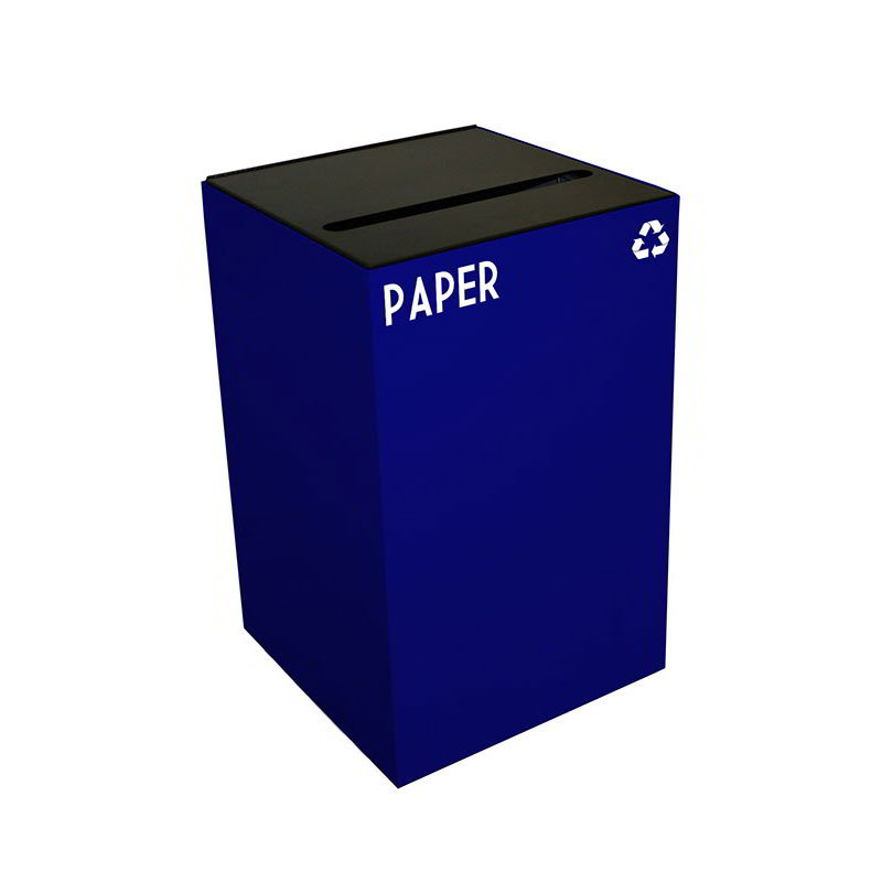 Witt 24GC02-BL 24-gal Paper Recycle Bin - Indoor, Fire Resistant