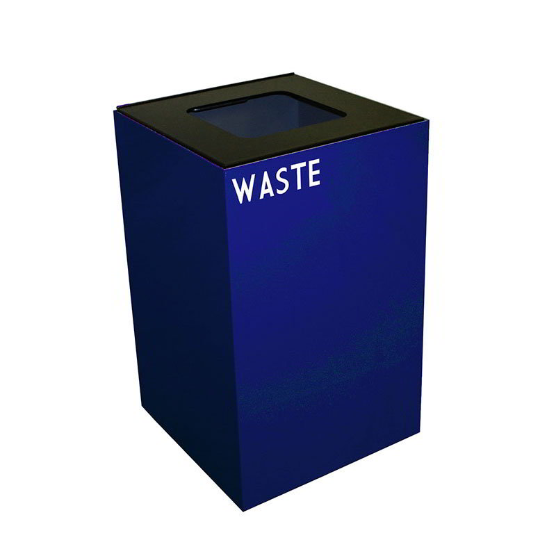 Witt 24GC03-BL 24-gal Indoor Decorative Trash Can - Metal, Blue
