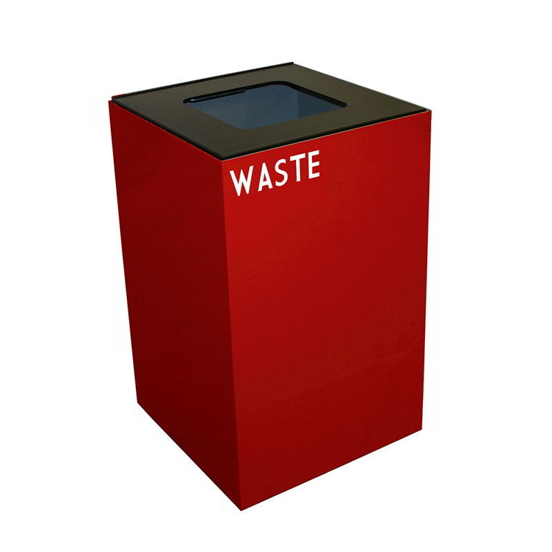Witt 24GC03-SC 24-gal Indoor Decorative Trash Can - Metal, Red