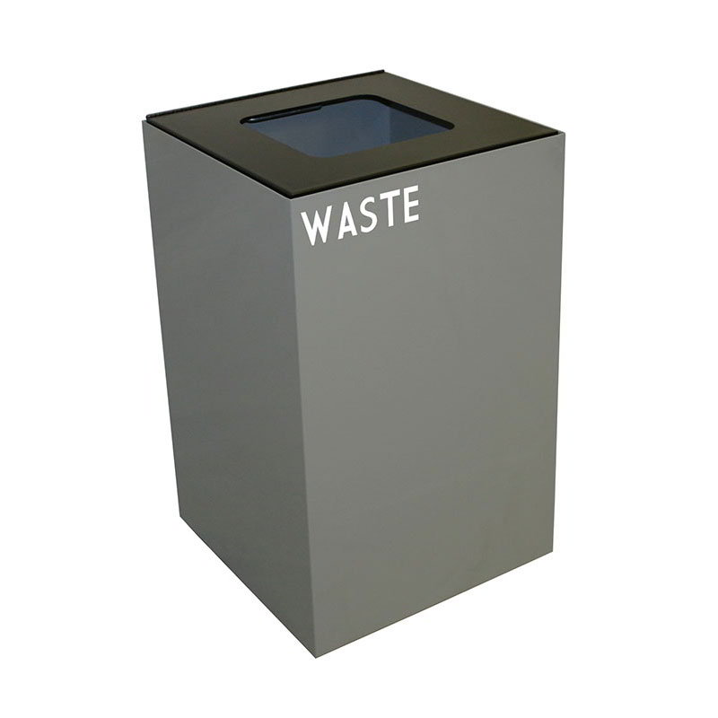 Witt 24GC03-SL 24-gal Indoor Decorative Trash Can - Metal, Slate