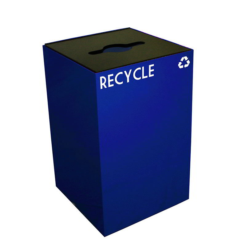 Witt 24GC04-BL 24-gal Multiple Materials Recycle Bin - Indoor, Fire Resistant