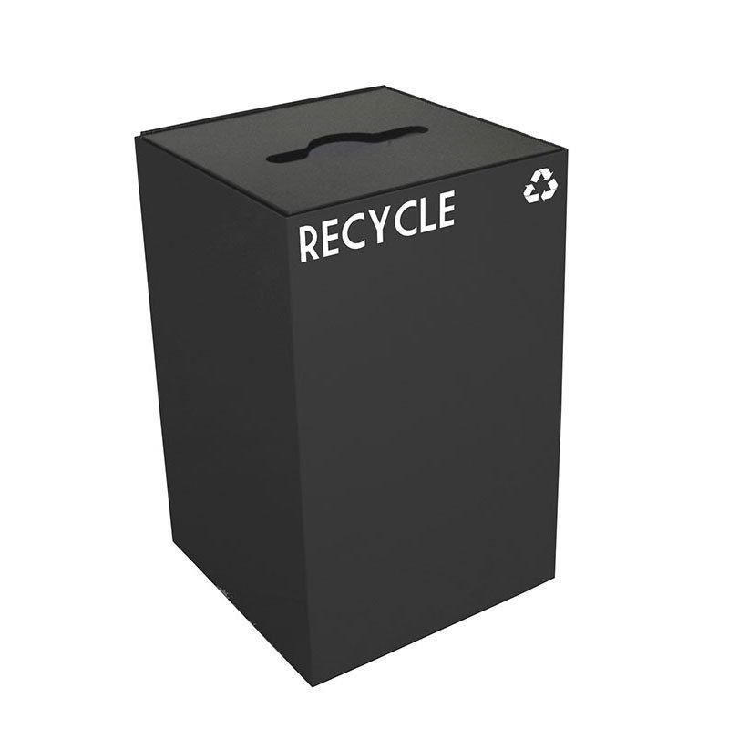 Witt 24GC04-CB 24-gal Multiple Materials Recycle Bin - Indoor, Fire Resistant