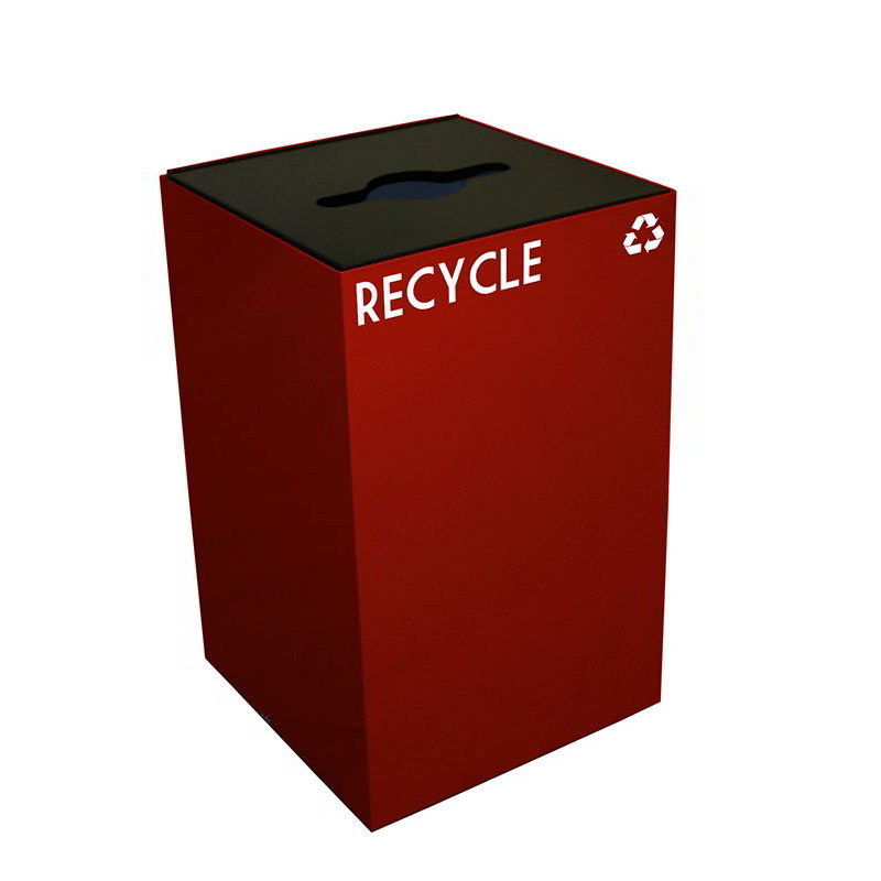 Witt 24GC04-SC 24-gal Multiple Materials Recycle Bin - Indoor, Fire Resistant