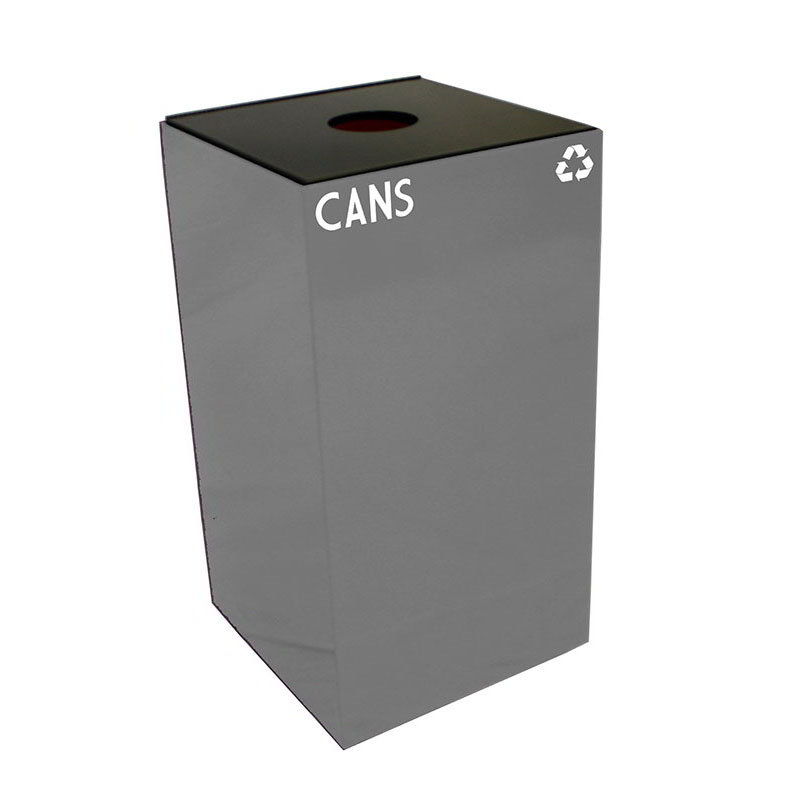 Witt 28GC01-SL 28-gal Cans Recycle Bin - Indoor, Fire Resistant