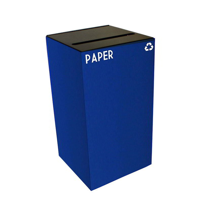 Witt 28GC02-BL 28-gal Paper Recycle Bin - Indoor, Fire Resistant