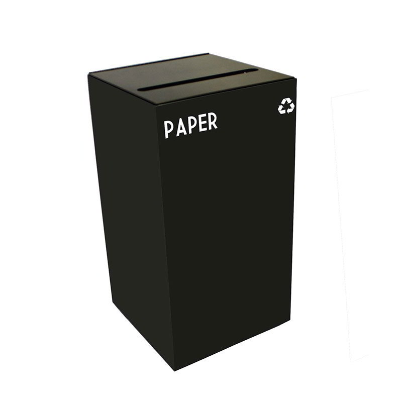 Witt 28GC02-CB 28-gal Paper Recycle Bin - Indoor, Fire Resistant
