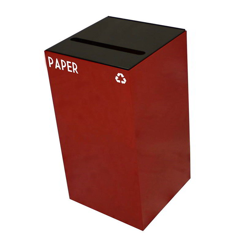 Witt 28GC02-SC 28-gal Paper Recycle Bin - Indoor, Fire Resistant