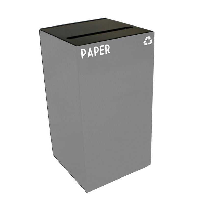 Witt 28GC02-SL 28-gal Paper Recycle Bin - Indoor, Fire Resistant