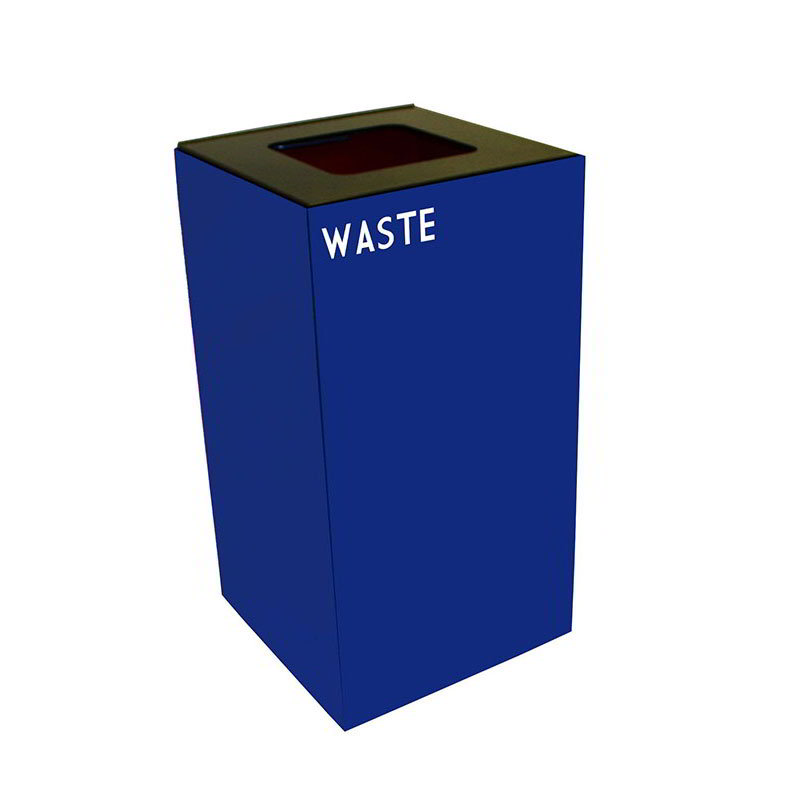 Witt 28GC03-BL 28-gal Indoor Decorative Trash Can - Metal, Blue