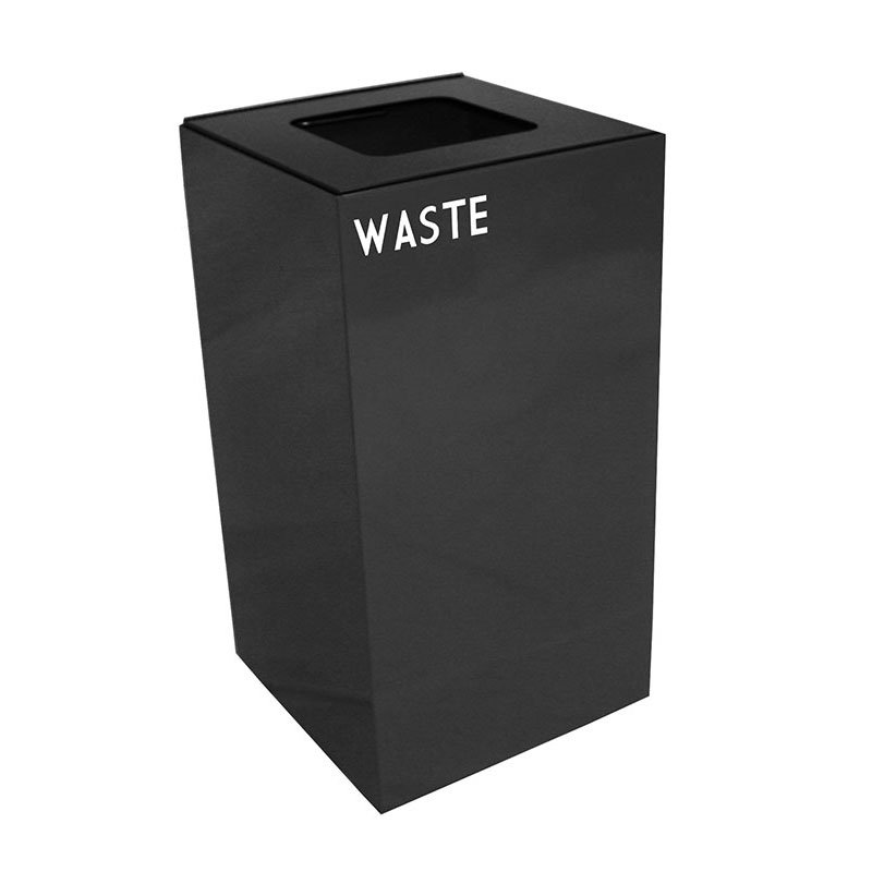 Witt 28GC03-CB 28-gal Indoor Decorative Trash Can - Metal, Charcoal