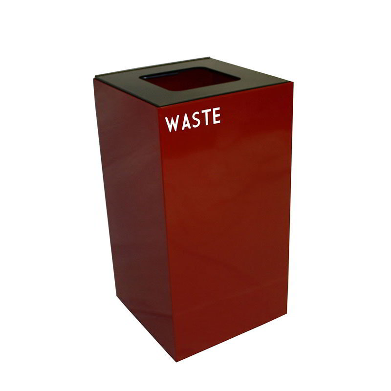 Witt 28GC03-SC 28-gal Multiple Materials Recycle Bin - Indoor, Fire Resistant