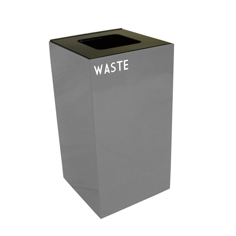 Witt 28GC03-SL 28-gal Multiple Materials Recycle Bin - Indoor, Fire Resistant