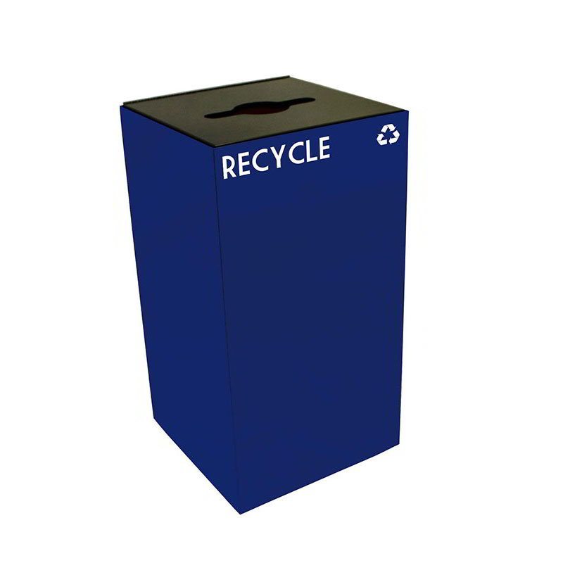 Witt 28GC04-BL 28-gal Multiple Materials Recycle Bin - Indoor, Fire Resistant