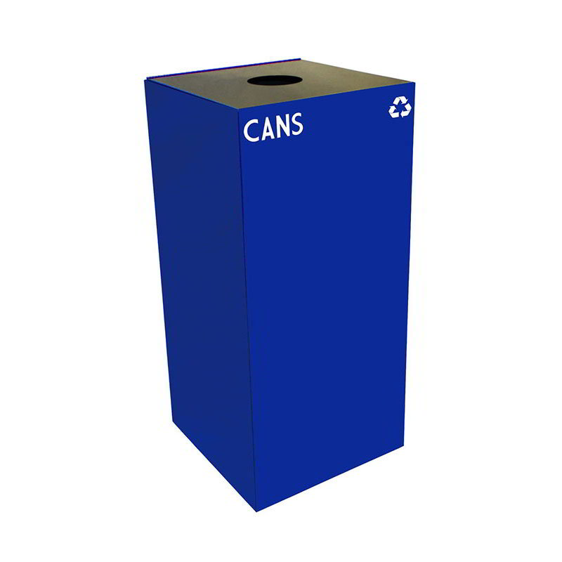 Witt 32GC01-BL 32-gal Cans Recycle Bin - Indoor, Fire Resistant