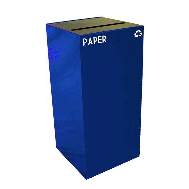Witt 32GC02-BL 32-gal Paper Recycle Bin - Indoor, Fire Resistant