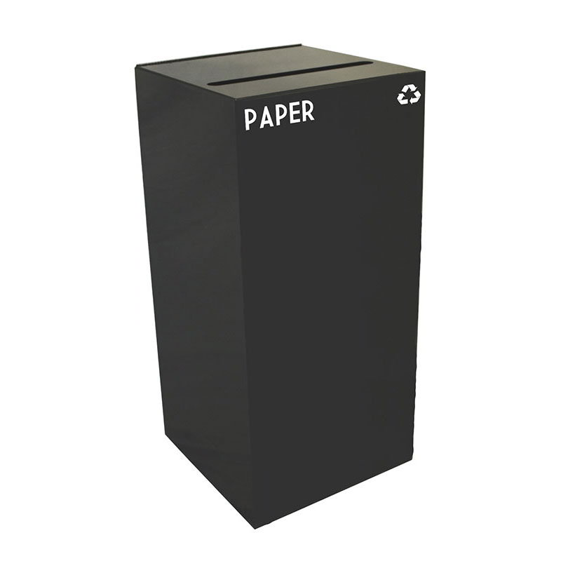 Witt 32GC02-CB 32-gal Paper Recycle Bin - Indoor, Fire Resistant
