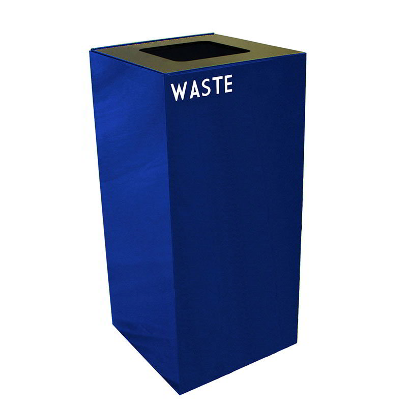 Witt 32GC03-BL 32-gal Indoor Decorative Trash Can - Metal, Blue