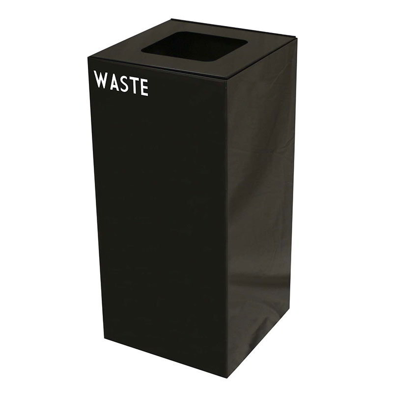 Witt 32GC03-CB 32-Gallon Indoor Recycling Container w/ Square Opening, Charcoal