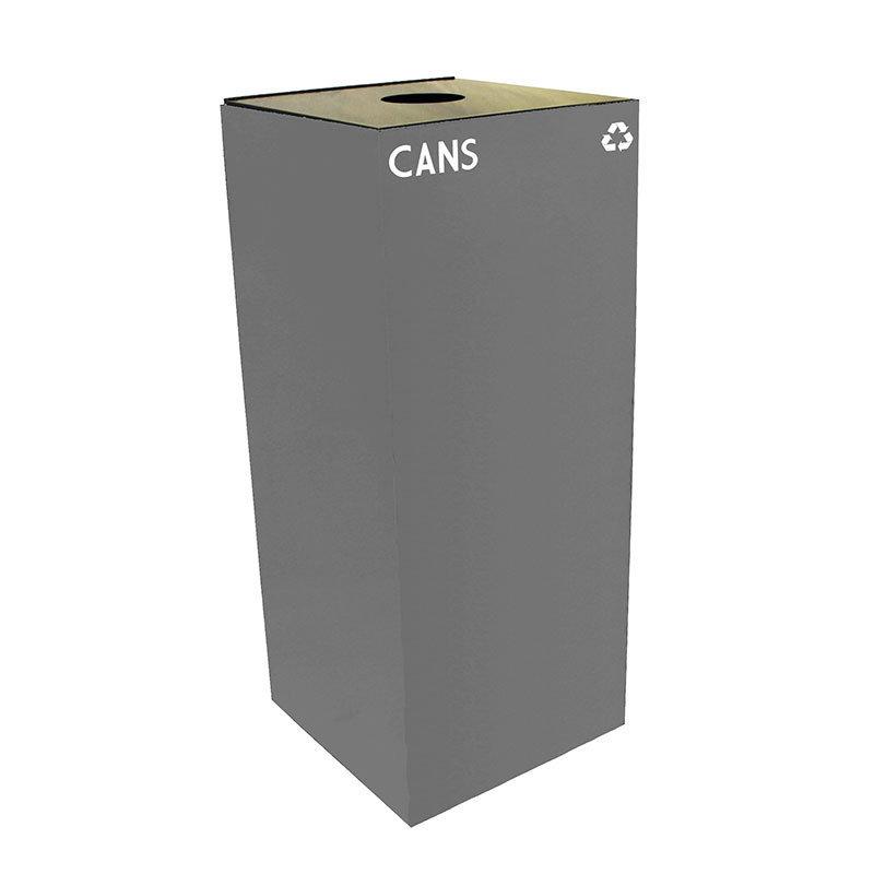Witt 36GC01-SL 36-gal Cans Recycle Bin - Indoor, Fire Resistant