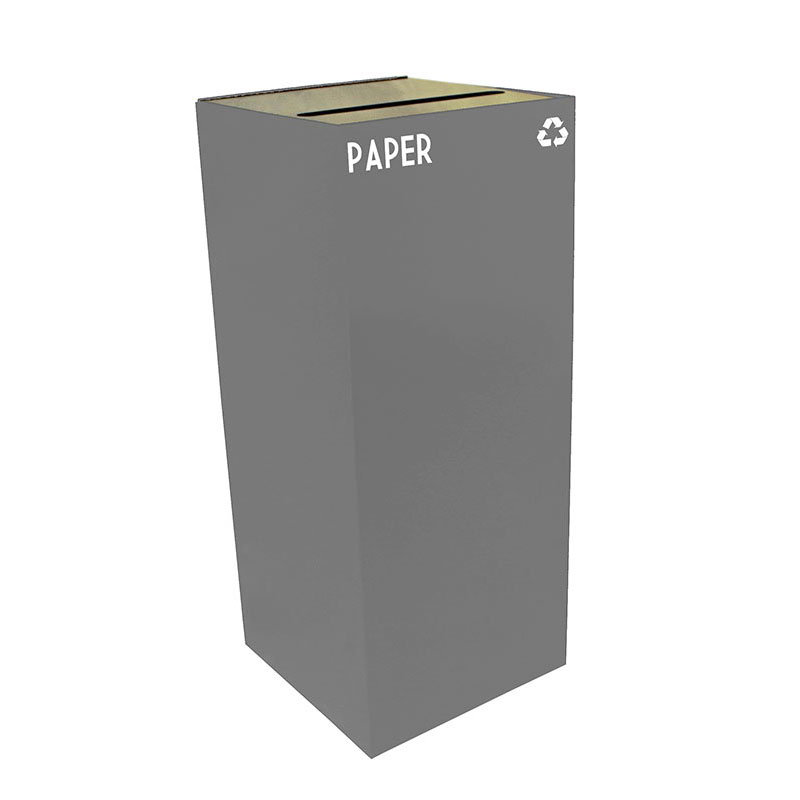Witt 36GC02-SL 36-gal Paper Recycle Bin - Indoor, Fire Resistant