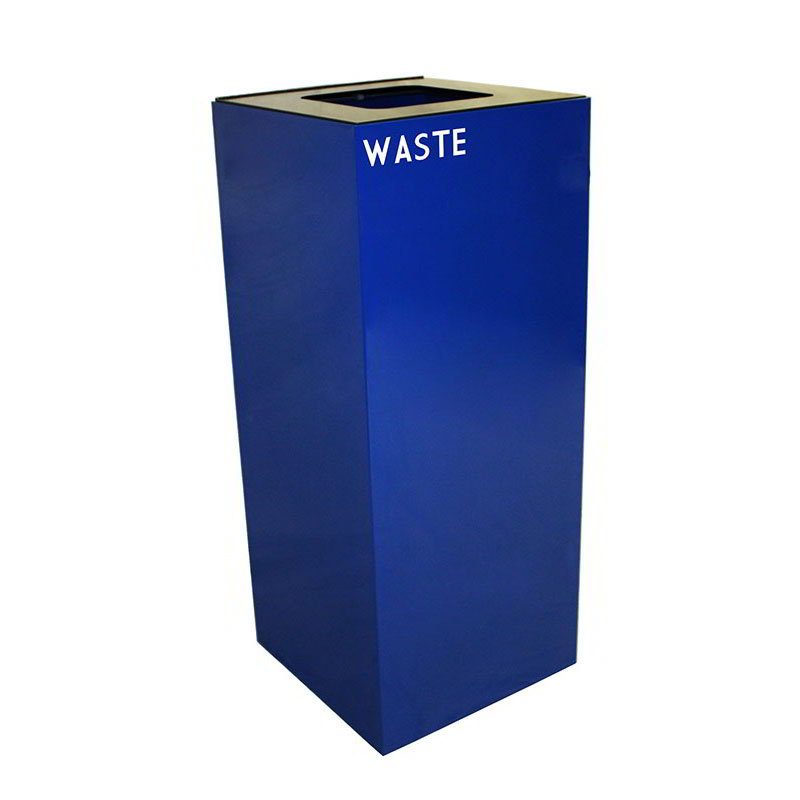 Witt Industries 36GC03-BL 36-Gallon Indoor Recycling Container w/ Square Opening, Blue