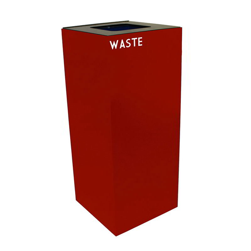 Witt 36GC03-CB 36-gal Indoor Decorative Trash Can - Metal, Scarlet