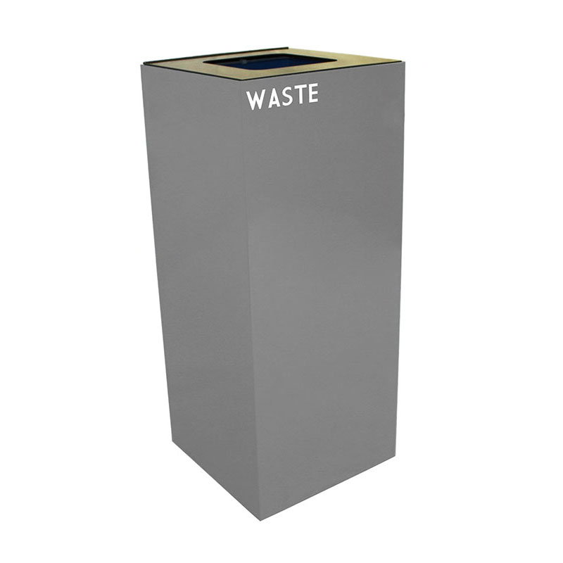 Witt 36GC03-SL 36-gal Indoor Decorative Trash Can - Metal, Slate