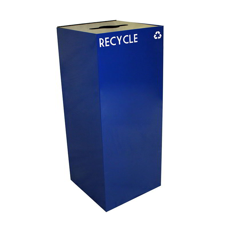 Witt 36GC03-BL 36-gal Multiple Materials Recycle Bin - Indoor, Fire Resistant