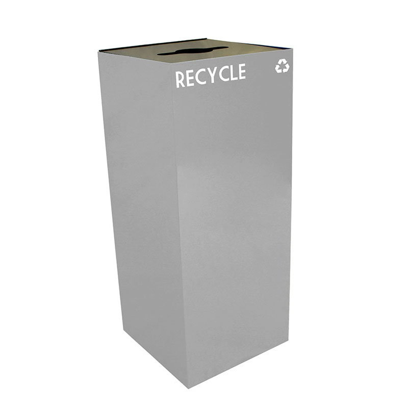 Witt 36GC04-SL 36-gal Multiple Materials Recycle Bin - Indoor, Fire Resistant