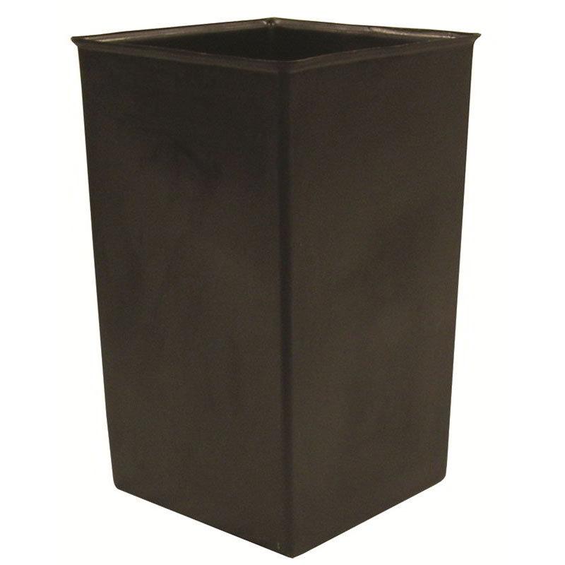 Witt 36R 36-gal Square Rigid Trash Can Liner, Plastic - Black
