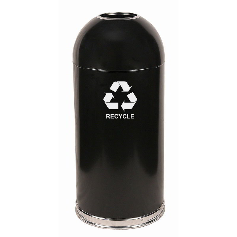 Witt 415DTBK-R Indoor Recycling Container w/ 15-Gallon Capacity, Black Finish