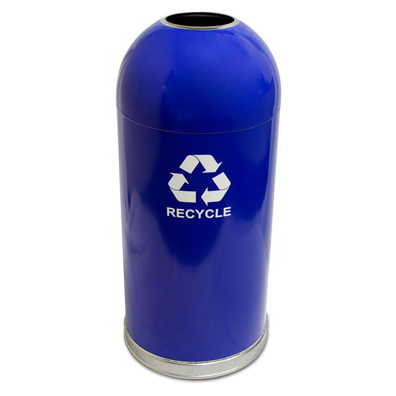 Witt 415DTBL-R Indoor Recycling Container w/ 15-Gallon Capacity, Blue Finish
